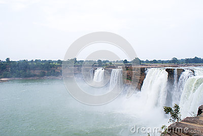 The gigantic waterfalls of Chitrakoot, Central India.