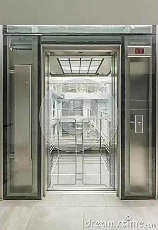 Glass Lift Stock Photo Image 34437090