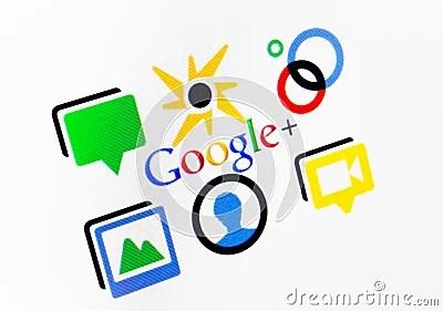 Google Plus Editorial Photo