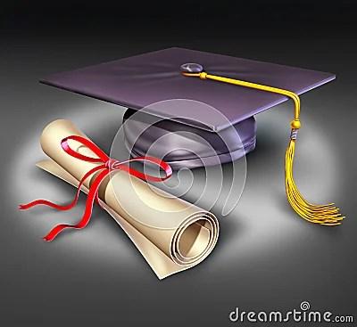 Graduation university education mortar board diplo
