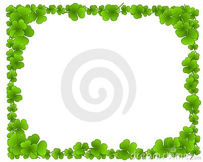 Green Clover Leaves Leaf Border Frame Stock Images Image