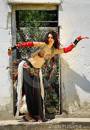 Gypsy Belly Dancer Woman Royalty Free Stock Photography