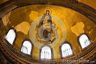 Hagia Sophia Mosaic Royalty Free Stock Image - Image: 20441686