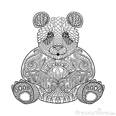 animal totem for adult coloring page stock vector image 60163057
