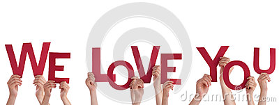 Download Hands Holding We Love You Royalty Free Stock Image - Image ...