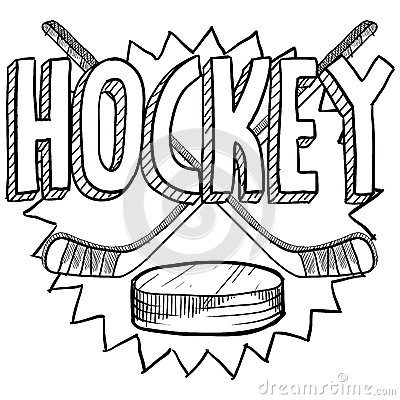 style hockey illustration in vector format includes text hockey