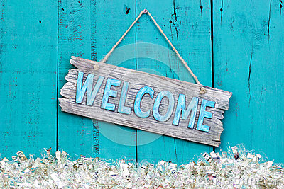 Holiday Welcome Sign Stock Photo Image 61613569