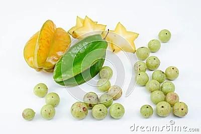 Indische Stachelbeere und Sternfrucht