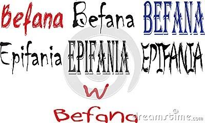 Italian words Epifania and Befana