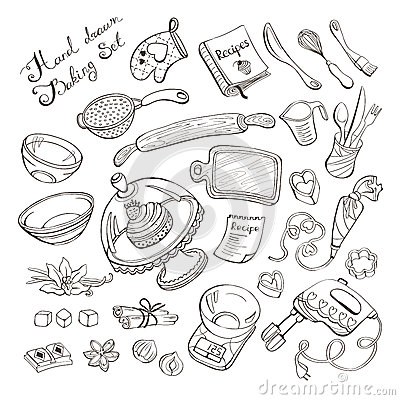 Kitchen Items For Baking Stock Vector Image 59123055