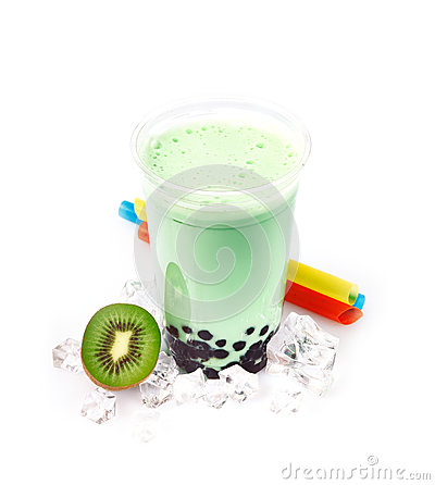 Kiwi Boba Bubble Tea