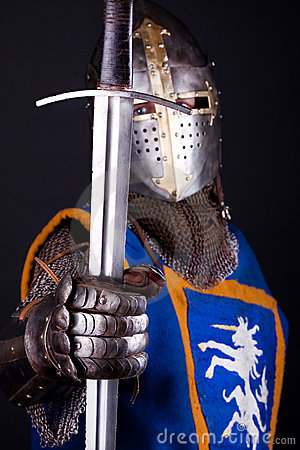 Knight Holding A Sword Stock Images Image 13314004