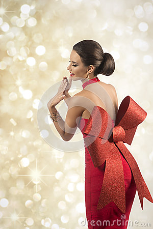 Lovely Christmas Pin Up Girl Stock Photo Image 46758089