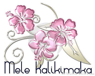Mele Kalikimaka Merry Christmas Hawaiian Royalty Free