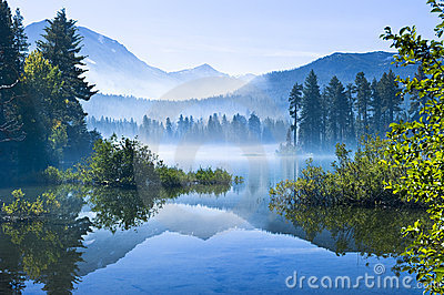 Morning Mountain Mist Stock Photo Image 16583760