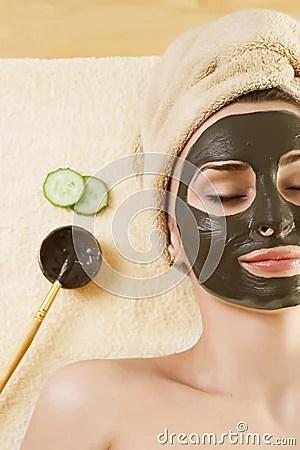 Mud Mask On The FaceSpa Stock Photo Image 13449690
