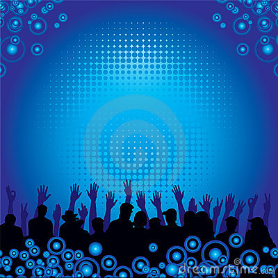 Music Audience Background Royalty Free Stock Photo Image