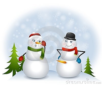 Naughty Snowman Royalty Free Stock Photography Image