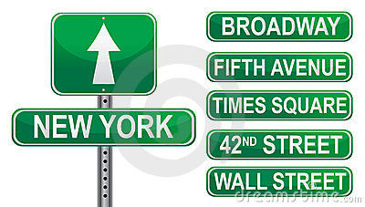 New York Street Signs Royalty Free Stock Image Image