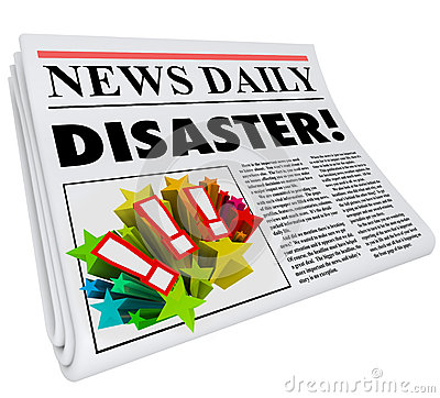 Newspaper Disaster Headline Crisis Trouble Alert Royalty Free Stock Image - Image: 31478066