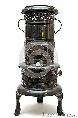 Old Kerosene Burning Space Heater Made In Austria Stock