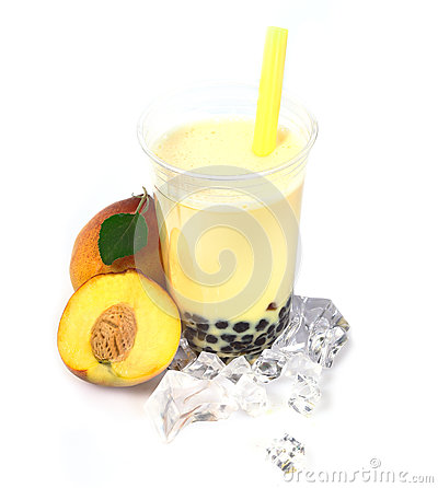 Peach Boba Bubble Tea