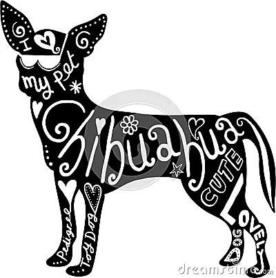 Pet Chihuahua Dog Stock Illustration Image 45296862