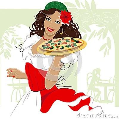 Pizza Girl Royalty Free Stock Photo Image 11974285