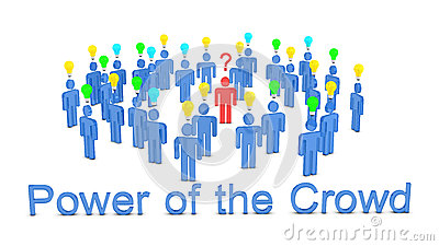 Power Of The Crowd Royalty Free Stock Images - Image: 30738769