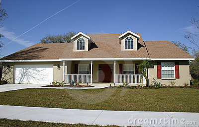 Ranch Style Home Stock Image Image 301711