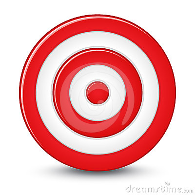 Red Darts Target Aim On White Background Royalty Free