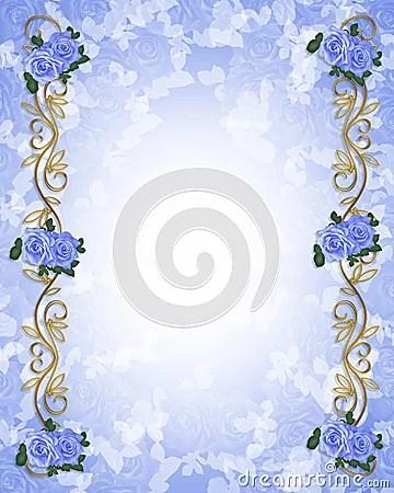 Rosas Azules 3D De La Invitacin De La Boda Fotos De