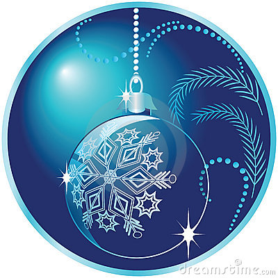 Round Christmas Background With Ball Royalty Free Stock
