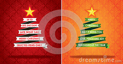Sales Marketing Banner And Christmas Greeting Card Royalty