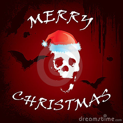 Scary Christmas Greeting Card Stock Photos Image 7277753