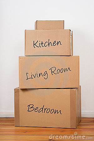 Set Of Packages For Moving Day Stock Photo Image 17604370
