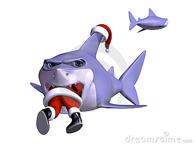Shark Swallowing Santa Royalty Free Stock Images Image