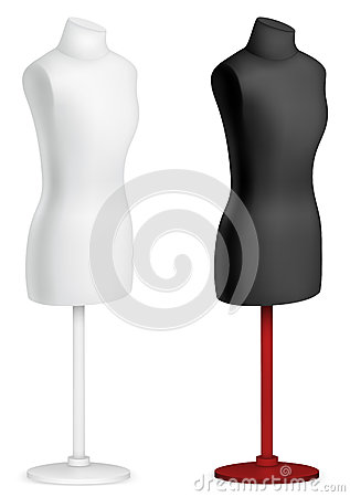 Empty Female Mannequin Torso Template Royalty Free Stock Photos Image 29904648