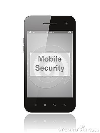Smart Phone With Mobile Security Button Stock Photos - Image: 29874633