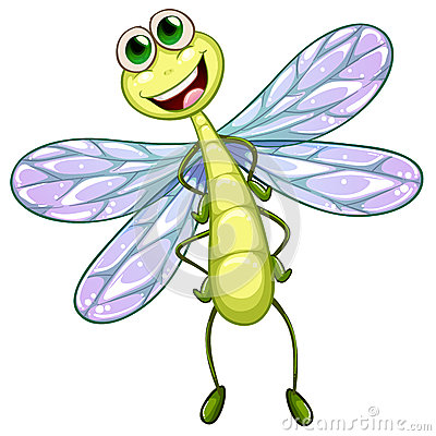 A Smiling Dragonfly Royalty Free Stock Photography Image