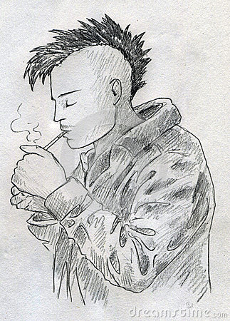 Smoking Punk Sketch Royalty Free Stock Image Image 27783116