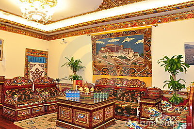 Tibetan Living Room Editorial Stock Image - Image: 20851829