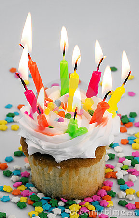 Too Many Candles Cupcake Stock Photos Image 1884593