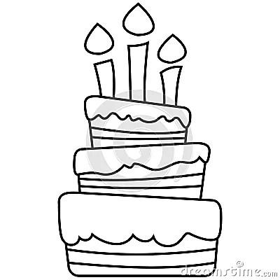 Vector Illustration Of Birthday Cake Royalty Free Stock
