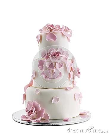 Wedding Cake Isolated On White Background Stock Images