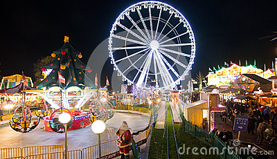 Winter Wonderland In London Editorial Photography Image