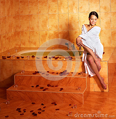 Woman Relaxing In Bath Stock Photo Image 35353560