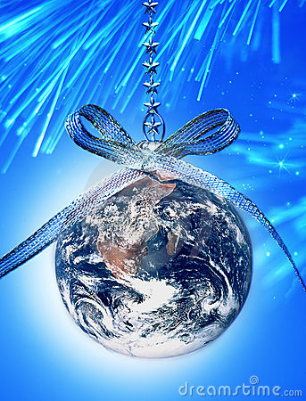 World Christmas Globe Earth Stock Photography Image