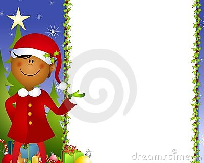 Xmas Elf Background 2 Royalty Free Stock Photography