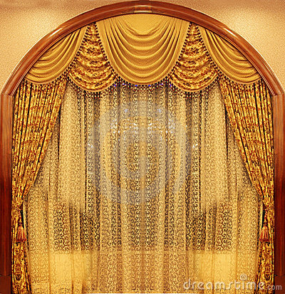 Yellow Velvet Theater Curtains Royalty Free Stock Photography Image 11773927